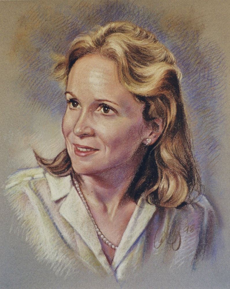 Single portrait (pastels on paper, 20