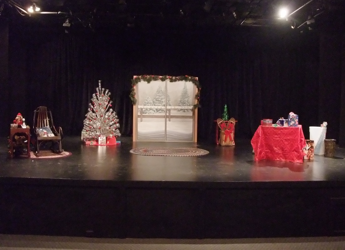"""A Very Ida Christmas"" (portable wooden backdrop)"