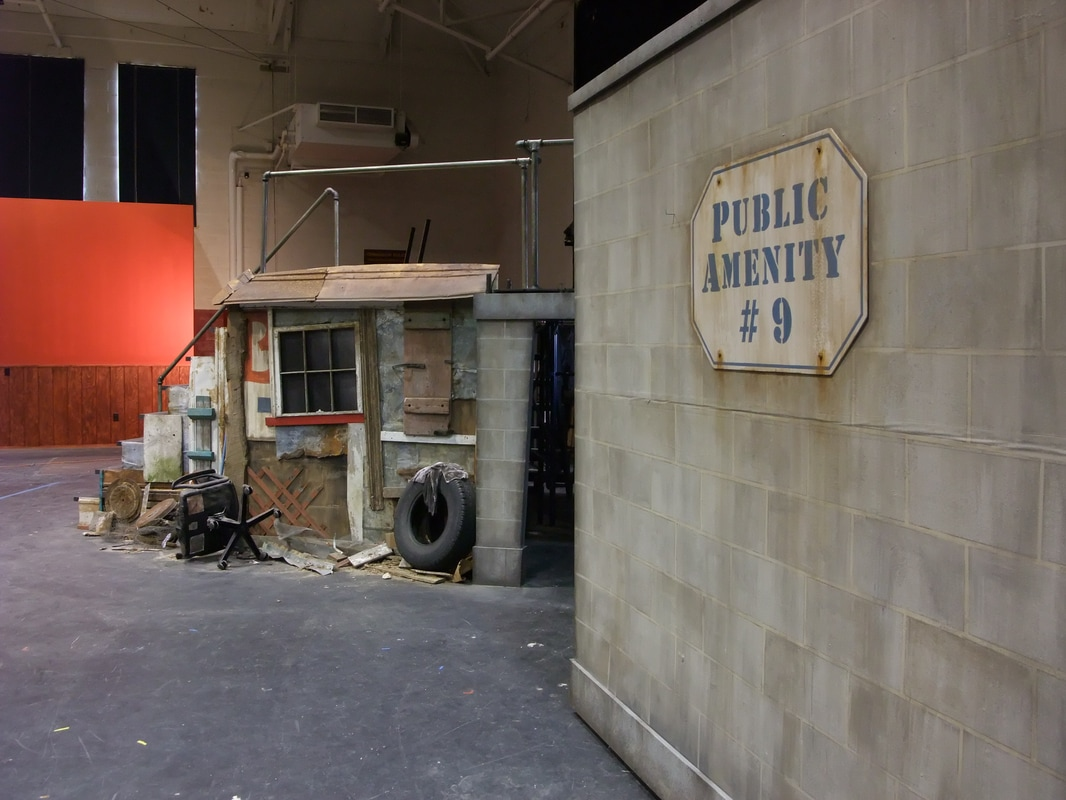 """Urinetown"" (scenic painting and assembly)"